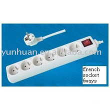 electrical power strip for France socket european style